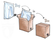 Пакет Bag-in-Box 10 л. метал. 12, 50 грн. 3 л - 10, 50 грн., 5 л-12, 50 гр